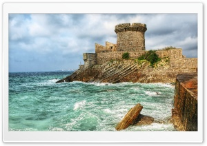 Fort de Socoa, Ciboure, France HD Wide Wallpaper for Widescreen