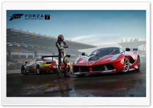 FORZA MOTORSPORT 7 - Posing by the Cars - 3840 X 2160P Ultra HD Wallpaper for 4K UHD Widescreen desktop, tablet & smartphone