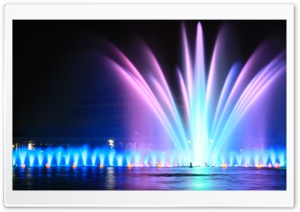 Fountain in Hala Ludowa, Wroclaw HD Wide Wallpaper for Widescreen