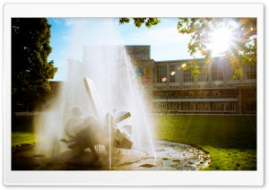 Fountain, Utrecht HD Wide Wallpaper for 4K UHD Widescreen desktop & smartphone