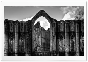 Fountains Abbey HD Wide Wallpaper for Widescreen