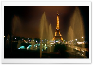 Fountains And Eiffel Tower HD Wide Wallpaper for Widescreen