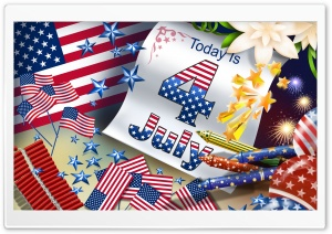 Fourth Of July HD Wide Wallpaper for Widescreen