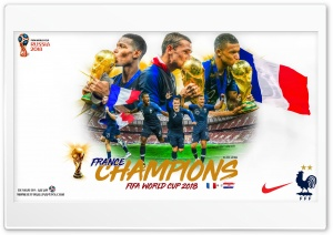 FRANCE CHAMPIONS FIFA WORLD CUP 2018 HD Wide Wallpaper for 4K UHD Widescreen desktop & smartphone