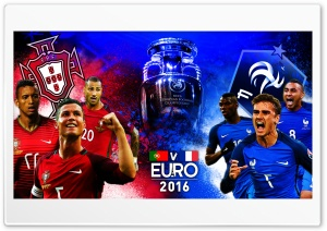 France VS Portugal EURO2016 - 2016 HD Wide Wallpaper for Widescreen