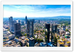 Frankfurt Panorama HD Wide Wallpaper for Widescreen