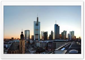 Frankfurt Skyscrapers HD Wide Wallpaper for 4K UHD Widescreen desktop & smartphone
