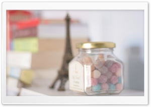 French Candy Jar HD Wide Wallpaper for Widescreen