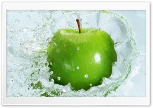 Fresh Green Apple HD Wide Wallpaper for Widescreen