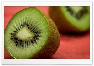 Fresh Kiwi Fruit cut in half HD Wide Wallpaper for 4K UHD Widescreen desktop & smartphone