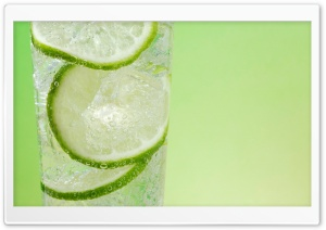 Fresh Lemonade with Lime HD Wide Wallpaper for Widescreen