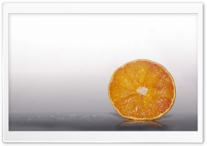 Fresh Orange Fruit Slice HD Wide Wallpaper for 4K UHD Widescreen desktop & smartphone