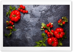 Fresh Red Tomatoes HD Wide Wallpaper for Widescreen