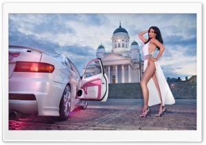Frizzi Arnold Miss Tuning Toyota Paseo HD Wide Wallpaper for Widescreen
