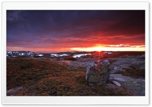Frizzing Sunset At Serra Da Estrela Portugal HD Wide Wallpaper for Widescreen
