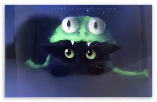 Frog Cat Painting HD wallpaper for Wide 16:10 5:3 Widescreen WHXGA WQXGA WUXGA WXGA WGA ; HD 16:9 High Definition WQHD QWXGA 1080p 900p 720p QHD nHD ; Standard 4:3 5:4 3:2 Fullscreen UXGA XGA SVGA QSXGA SXGA DVGA HVGA HQVGA devices ( Apple PowerBook G4 iPhone 4 3G 3GS iPod Touch ) ; Tablet 1:1 ; iPad 1/2/Mini ; Mobile 4:3 5:3 3:2 16:9 5:4 - UXGA XGA SVGA WGA DVGA HVGA HQVGA devices ( Apple PowerBook G4 iPhone 4 3G 3GS iPod Touch ) WQHD QWXGA 1080p 900p 720p QHD nHD QSXGA SXGA ;