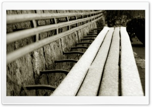 Frosty Bench HD Wide Wallpaper for Widescreen