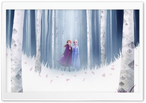 Frozen 2 Elsa the Snow Queen and Anna Ultra HD Wallpaper for 4K UHD Widescreen desktop, tablet & smartphone