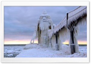 Frozen Lighthouse HD Wide Wallpaper for Widescreen