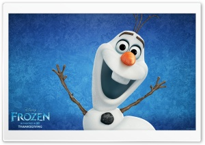 Frozen Movie Snowman HD Wide Wallpaper for Widescreen