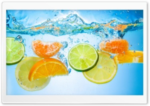 Fruits Water Splash HD Wide Wallpaper for 4K UHD Widescreen desktop & smartphone