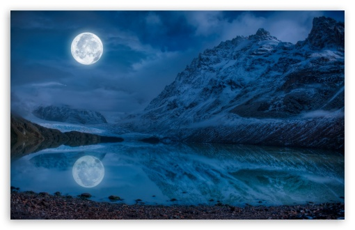 Download Full Moon Reflection Water Wallpaper