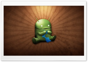 Funny Android Robot HD Wide Wallpaper for Widescreen