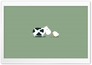Funny Cow Egg HD Wide Wallpaper for Widescreen