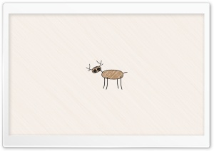 Funny Deer Drawing HD Wide Wallpaper for Widescreen