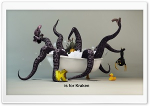 Funny Kraken Monster HD Wide Wallpaper for Widescreen