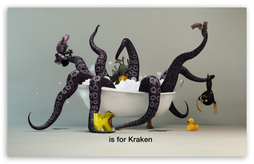 Funny Kraken Monster HD wallpaper for Wide 16:10 5:3 Widescreen WHXGA WQXGA WUXGA WXGA WGA ; HD 16:9 High Definition WQHD QWXGA 1080p 900p 720p QHD nHD ; Standard 4:3 3:2 Fullscreen UXGA XGA SVGA DVGA HVGA HQVGA devices ( Apple PowerBook G4 iPhone 4 3G 3GS iPod Touch ) ; iPad 1/2/Mini ; Mobile 4:3 5:3 3:2 16:9 - UXGA XGA SVGA WGA DVGA HVGA HQVGA devices ( Apple PowerBook G4 iPhone 4 3G 3GS iPod Touch ) WQHD QWXGA 1080p 900p 720p QHD nHD ;