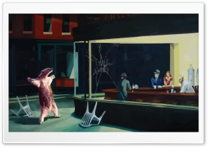 Funny Nighthawks HD Wide Wallpaper for Widescreen