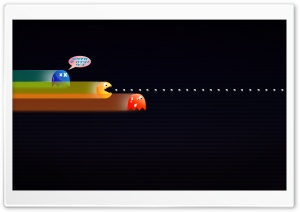 Funny Pacman HD Wide Wallpaper for 4K UHD Widescreen desktop & smartphone