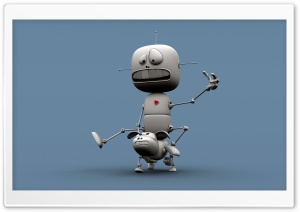 Funny Robots HD Wide Wallpaper for Widescreen