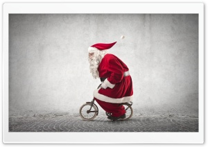 Funny Santa Claus Ultra HD Wallpaper for 4K UHD Widescreen desktop, tablet & smartphone
