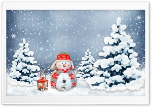 Funny Snowman HD Wide Wallpaper for Widescreen