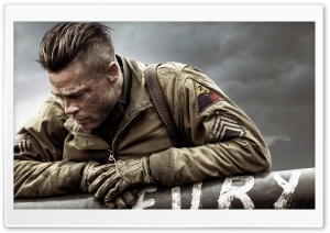 Fury Brad Pitt HD Wide Wallpaper for Widescreen
