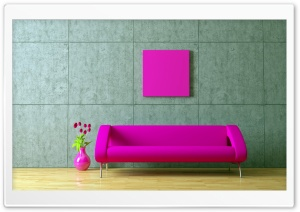 Fuschia Couch HD Wide Wallpaper for Widescreen
