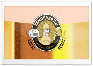 Futurama Bender   Benderbrau HD Wide Wallpaper for Widescreen