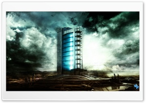 Futuristic Building HD Wide Wallpaper for Widescreen