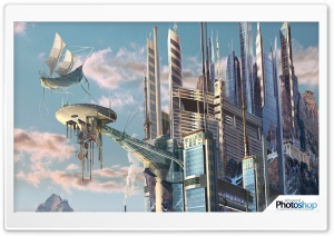 Futuristic Buildings HD Wide Wallpaper for 4K UHD Widescreen desktop & smartphone