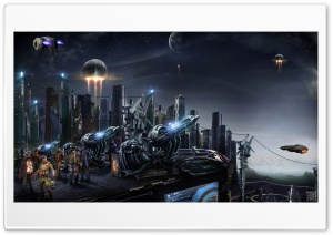 Futuristic City HD Wide Wallpaper for Widescreen