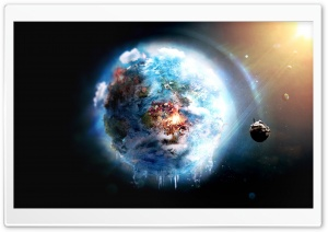 Futuristic Outer Space View HD Wide Wallpaper for Widescreen