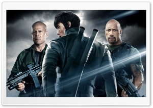 G.I. Joe Retaliation - Dwayne Johnson, Bruce Willis HD Wide Wallpaper for Widescreen