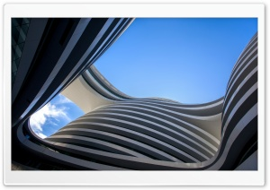 Galaxy Soho, Beijing HD Wide Wallpaper for Widescreen