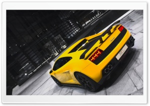 Gallardo GT600 Spyder Yellow HD Wide Wallpaper for Widescreen