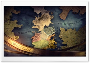 Game of Thrones Map of Westeros. HD Wide Wallpaper for 4K UHD Widescreen desktop & smartphone