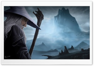 Gandalf and the Lonely Mountain HD Wide Wallpaper for Widescreen