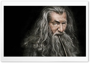 Gandalf Smoking Pipe HD Wide Wallpaper for Widescreen