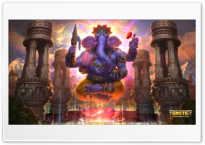 Ganesha God of Success Smite Video Game Ultra HD Wallpaper for 4K UHD Widescreen desktop, tablet & smartphone